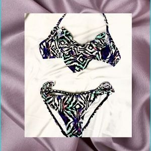 New Tilly's Bikini Ruched Butoms Multi Color